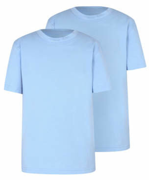 George Light Blue Crew Neck School T-Shirt 2 Pack