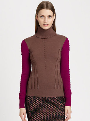 Missoni Raised-Dot Turtleneck Sweater