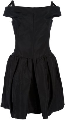 Carven sleeveless fitted waist dress