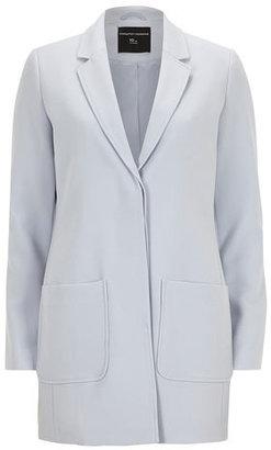 Dorothy Perkins Blue crepe boyfriend coat