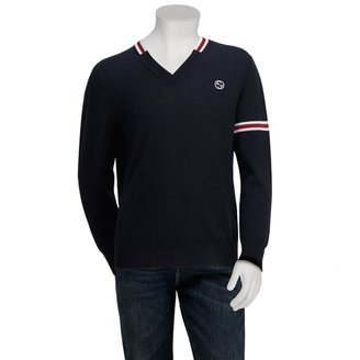 Gucci Boys Navy Long Sweater V-Neck Sweater