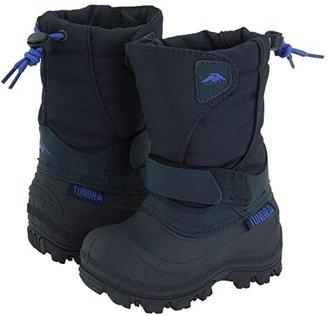 Tundra Boots Kids Quebec Wide (Toddler/Little Kid/Big Kid) (Black/Grey) Boys Shoes