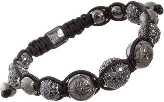 Shamballa Jewels Black Gold & Black Pave Diamond Bead Bracelet