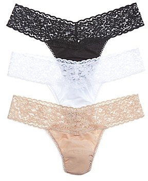 Hanky Panky Cotton with a Conscience Low-Rise Thongs, Set of 3