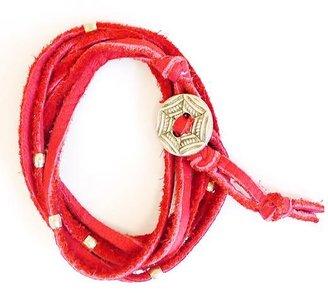 Athleta Suede Silver Wrap Bracelet by Bronwen