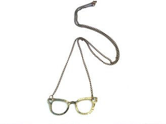 Forever 21 Ships From USA Delivery in 5-6 Days Fashion Gift Party Gift Antique Bronze Frame Geek Glasses Necklace, Style