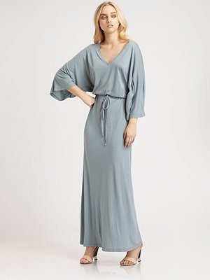 Daftbird Drawstring Long Dress