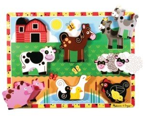 Melissa & Doug Kids Toy, Farm Chunky Puzzle