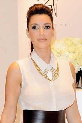Belle Noel by Kim Kardashian Asymmetrical Diamond Collar Necklace in Yellow Gold