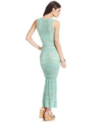 XOXO Pointelle-Knit Maxi Dress