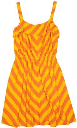 Pink Chicken Suzie Tank Dress - Orange Peel/Gold Fusion-7/8Y