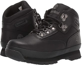 Timberland Kids Euro Hiker (Little Kid) (Black Smooth/Black) Boys Shoes