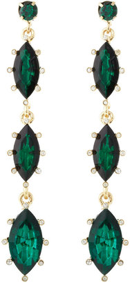 Fragments for Neiman Marcus Linear Marquise Drop Earrings, Emerald