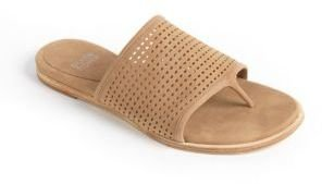 Eileen Fisher Edge Buffed Leather Thong Sandals