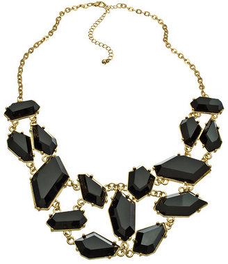 Blu Bijoux Stone Bib Necklace
