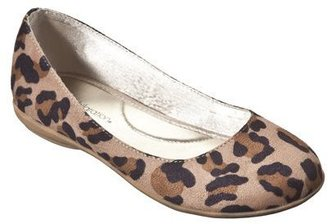 Xhilaration Girl's Natausha Flat - Leopard
