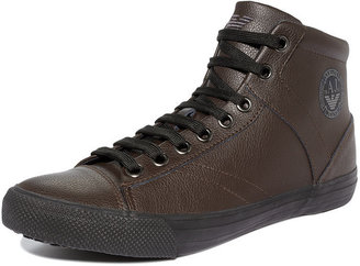 The North Face Armani Jeans Shoes, Logo High Top Sneakers