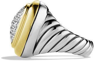 David Yurman Waverly Ring with Diamonds and Gold