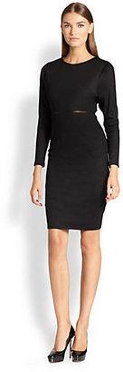 Max Mara Tessa Leather-Trimmed Wool Jersey Dress