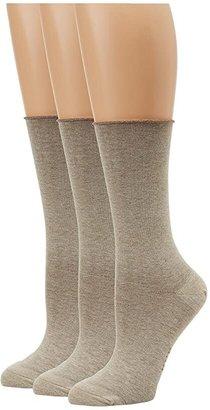 Hue Jean Socks 3-Pack (Black Solids) Women's Crew Cut Socks Shoes