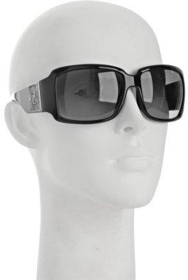 Fendi black cork logo rectangular sunglasses
