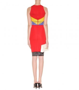 Christopher Kane Elastic-panelled stretch-jersey dress