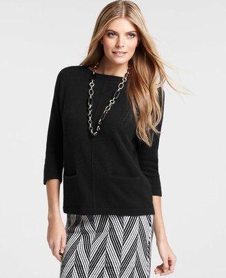 Ann Taylor Merino Wool Blend Front Pocket Sweater