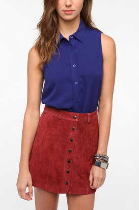 Urban Outfitters Coincidence & Chance Contrast Collar Top