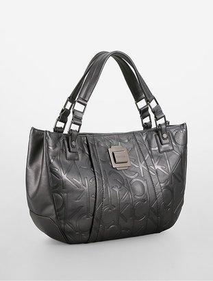 Calvin Klein Parker Debossed Tote Bag