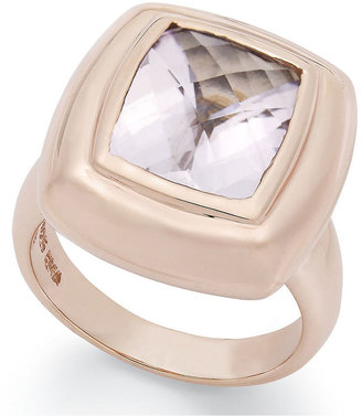18k Rose Gold over Sterling Silver Ring, Pink Amethyst Cushion-Cut Ring (4-3/4 ct. t.w.)