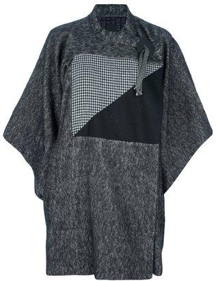 Bernhard Willhelm oversized multi-fabric coat