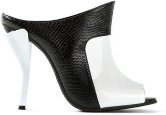 Fendi contrast mule sandal