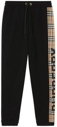 Burberry Raine Black Panelled Cotton Sweatpants