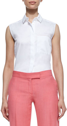 Stella McCartney Cotton Poplin Blouse, White