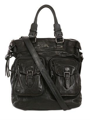 Neil Barrett Washed Buffalo Shoulder Bag