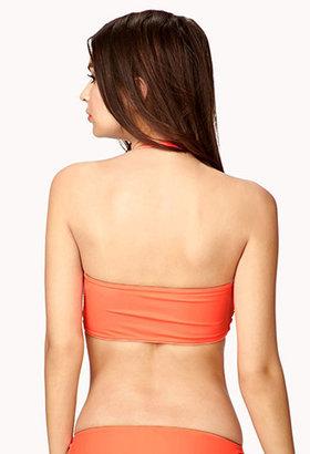 Forever 21 Shirred Tube Bikini Top