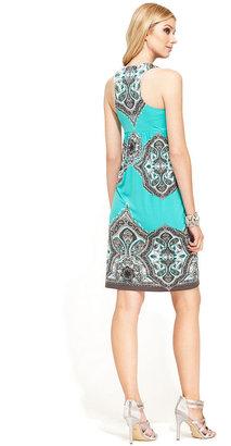 INC International Concepts Dress, Sleeveless Printed A-Line