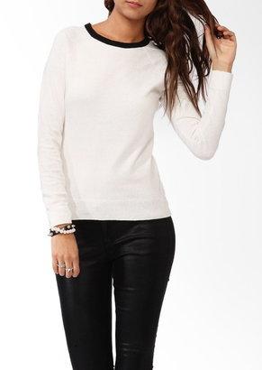 Forever 21 Contrast Neckline Sweater