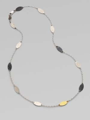 Gurhan Sterling Silver & 24K Yellow Gold Necklace