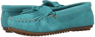 Minnetonka Kilty Moc (Turquoise Suede) Women's Shoes