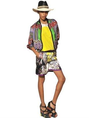 Etro Silk Satin And Silk Crepe Bomber Jacket