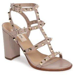 Women's Valentino 'Rockstud' T-Strap Sandal $1,045 thestylecure.com