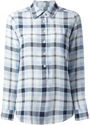 Equipment country plaid blouse