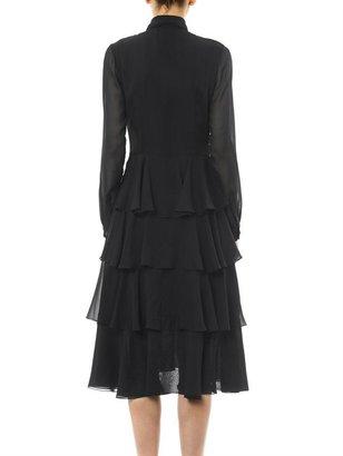 Jason Wu V-neck ruffle silk-chiffon dress