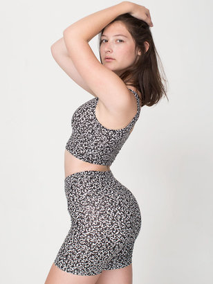 American Apparel Winie Print Cotton Spandex Jersey Cycle Short