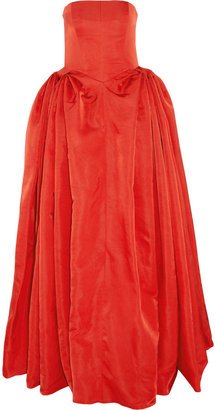Alexander McQueen Duchess silk-satin gown