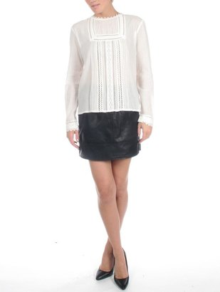 Vanessa Bruno athé by Ivory Button Back Blouse