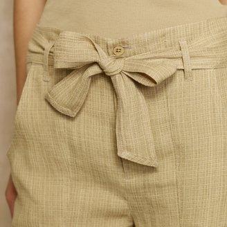 Ralph Lauren Blue Label Check-Woven Linen Short