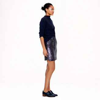 J.Crew Shirttail mini in sequins