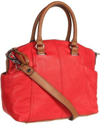 Tignanello Pretty In Python Satchel (Tomato) - Bags and Luggage